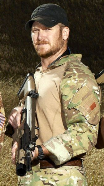 """One of America's greatest warriors, Navy Seal Chris Kyle, Texas own - """"American Sniper"""" in theaters now. Thank you Chris and the Kyle family for the telling of this story and service to our country."""
