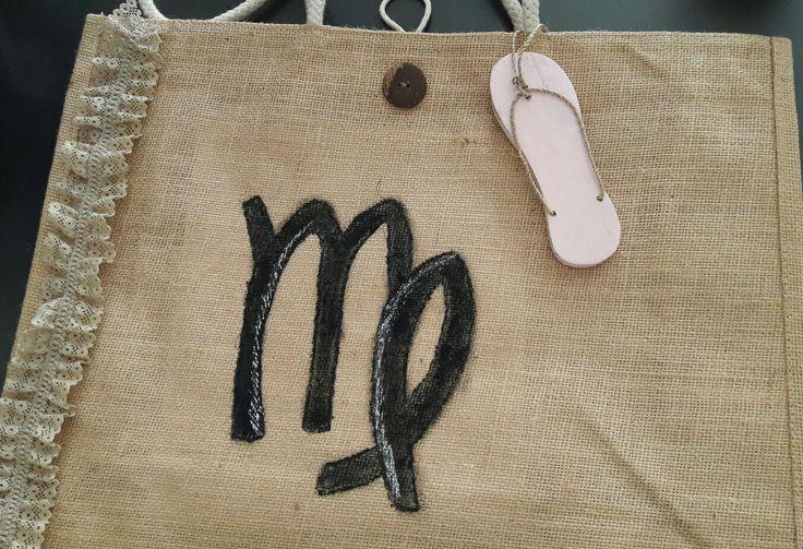 #style, #handpaintedbag, #summer, handpainted bag, #virgo