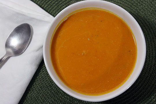 Cream of squash and tomato soup