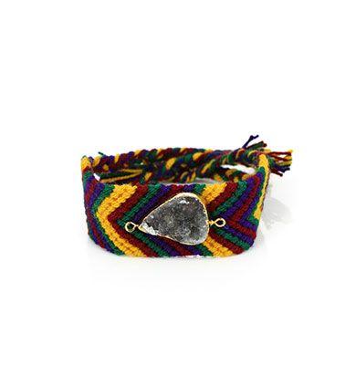 Wayuu Armband met Edelsteen 107 - €39,95
