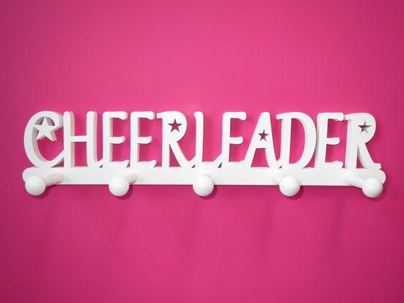 Cheerleader Medal Holder, Cheerleader Medal Display, Cheerleader bedroom accessories, Cheer gift, Cheerleading, Cheer wall decor, WHITE
