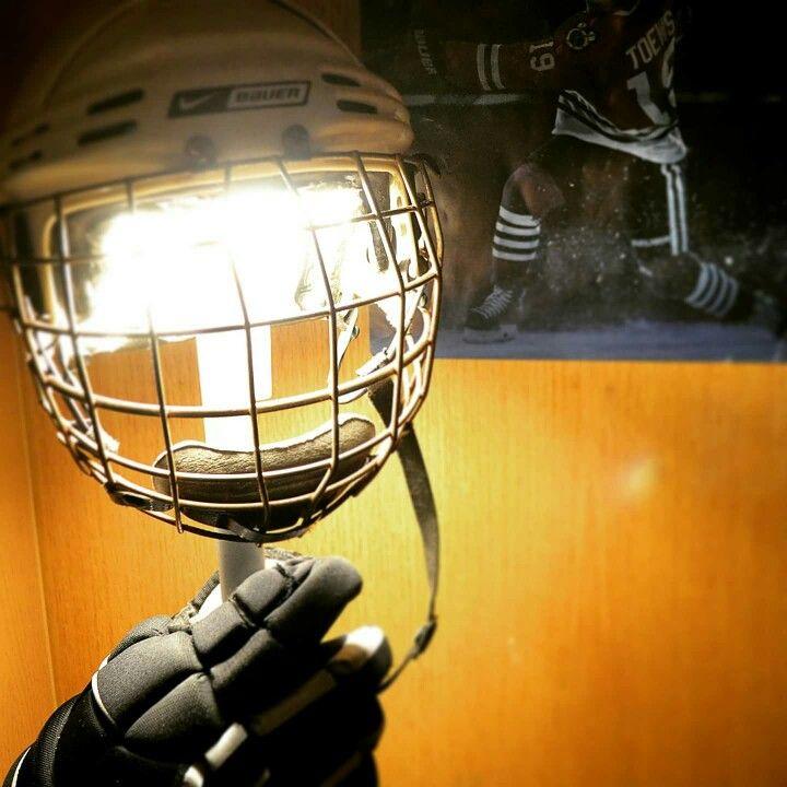 Hockey Helmet Lamp upcycling repurposing
