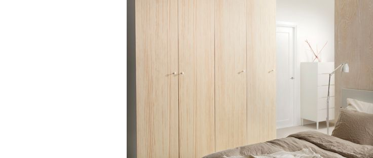 I love these colors!       PAX wardrobe with pine OKSVOLL doors