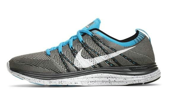 best sneakers 0c5c0 4b9ae Youth Big Boys Nike Flyknit One+ Grey Blue Silver