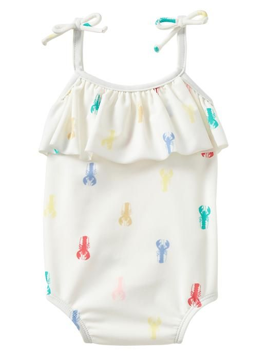 Gap Lobster Ruffle One Piece - milk