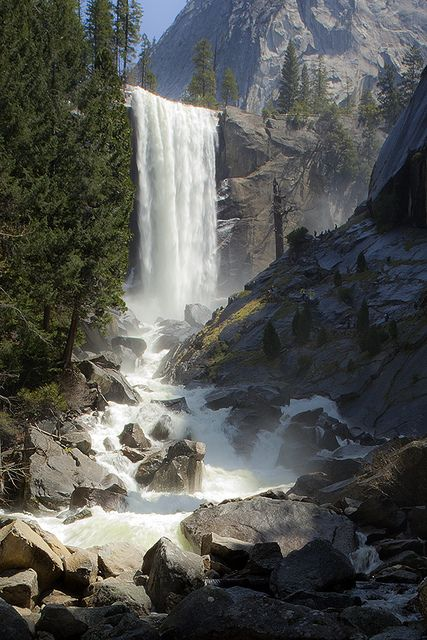 Vernal Falls and the Merced River, Yosemite National Park; photo by Joe Ganster