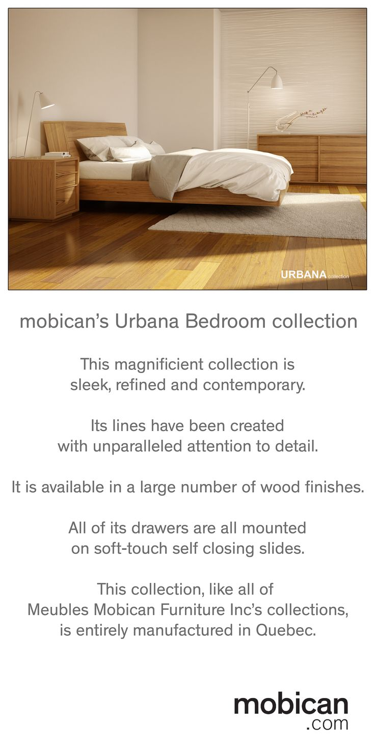 This gorgeous bedroom collection from Meubles Mobican Furniture Inc will be  shown next April at the · High PointNorth ...