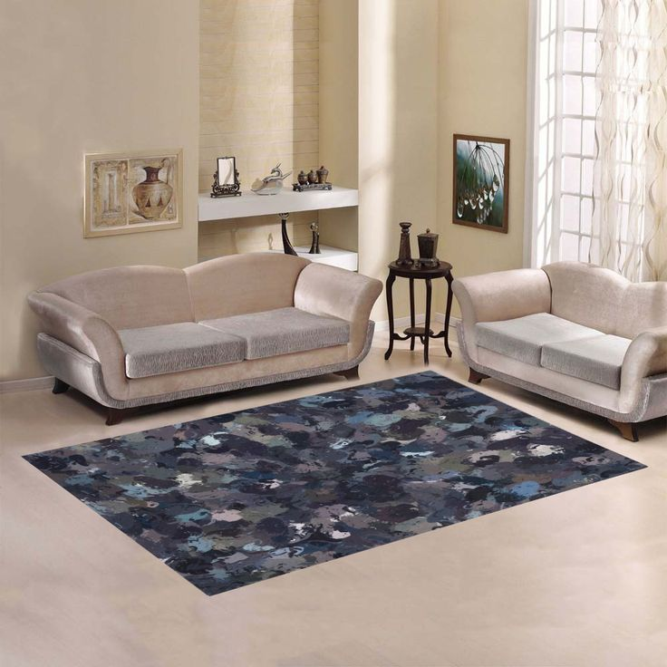 Shades of Purple Beads 9162 Area Rug