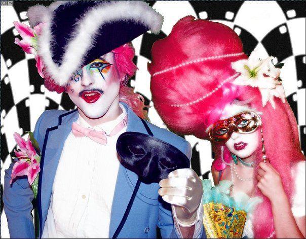 neon baroque (makeup & wigs by nefertara): Baroque Makeup, Costume Makeup Cosplay, Makeup Wigs