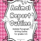 This is a note-taking packet for grades 3 and up. It is designed to help students plan an eight paragraph essay on an animal of their choice.  The ...