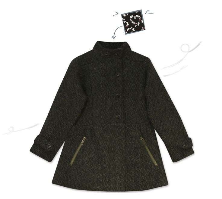 Manteau Vatilde http://www.bleucommegris.com/fr/product/fille/manteaux-vestes/vatilde,khaki-black,manteau-lainage.html