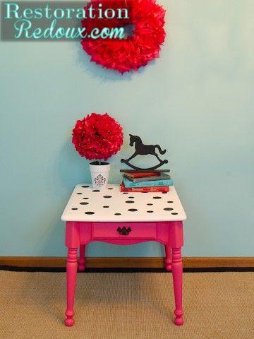 polka dots restored table