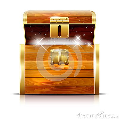 Wooden Chest With Glowing Treasure On White Background - Download From Over 35 Million High Quality Stock Photos, Images, Vectors. Sign up for FREE today. Image: 57863092