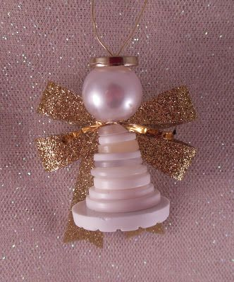 Kathy's AngelNik Designs & Art Project Ideas: Button Angels
