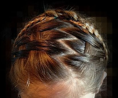 How to basket weave hair