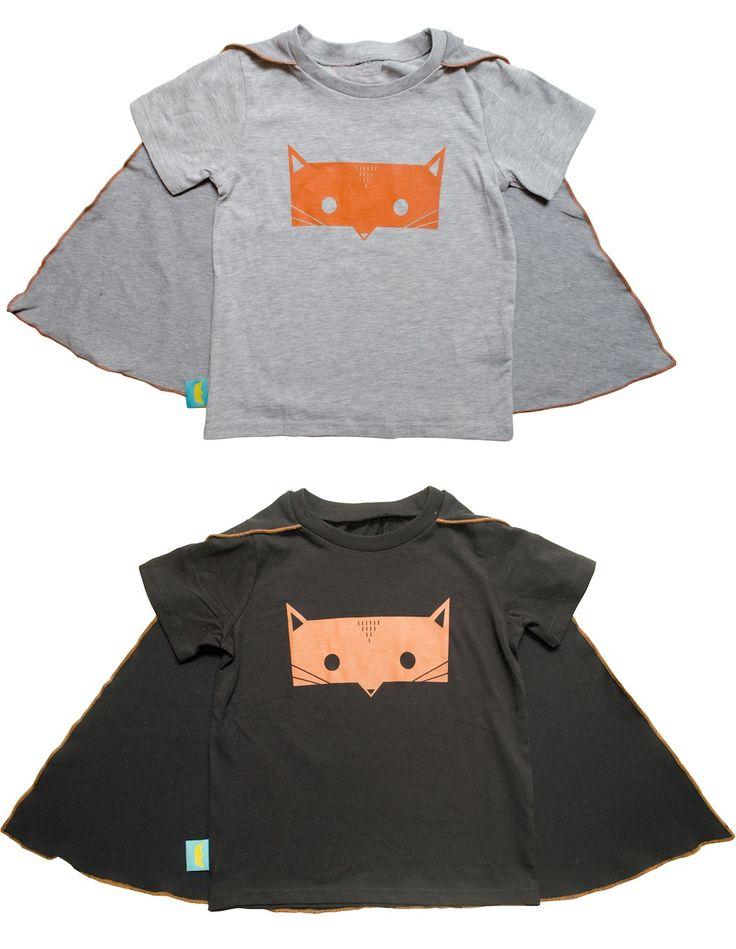 SuperSuper Tees, le magliette per bambini con i superpoteri degli animali, intelligenti e furbi come volpi, coraggiosi come leoni ^_- Magliette in cotone: originali, divertenti, con mantellina incorporata. @Flavia Le Macchinine