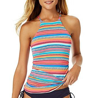 Anne Cole® Hi-Neck Tankini Top