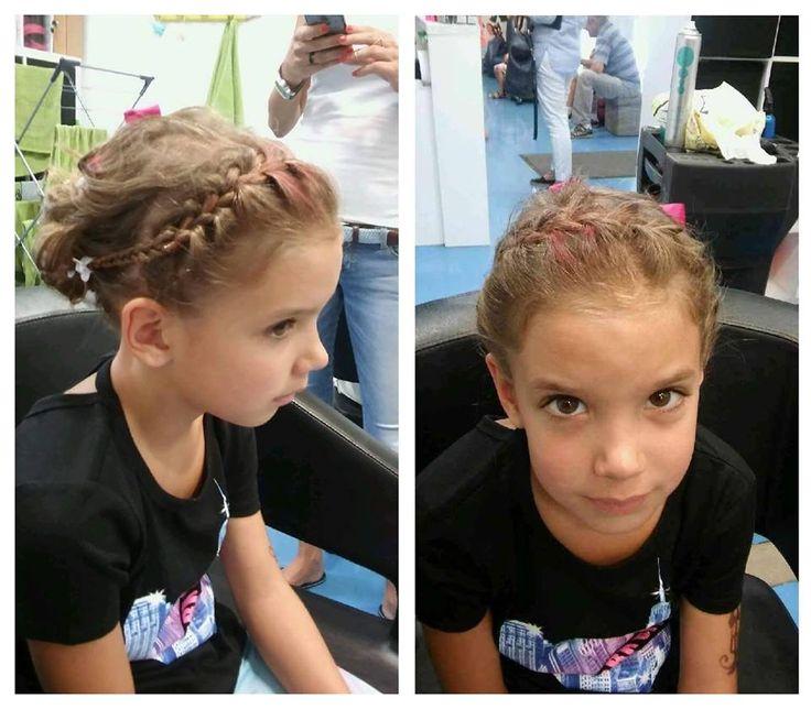 Mladé slečny si potrpia na svojich módnych účesoch a my im vždy vyhovieme. #detskekadernictvo #trnava #bratislava #uces