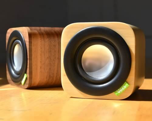 Housed in a beautiful, portable wooden cabinet, the 1Q is a Bluetooth sound system capable of room-filling sound yet fits in the palm of your hand. The 1Q boasts 10 hours of battery life, a 6.5W, 2'' full range speaker, and a 3.5 audio jack when Bluetooth isn't available.
