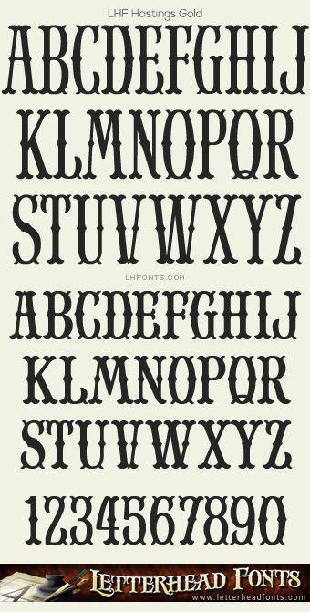 Letterhead Fonts / LHF Hastings Gold font / Western Style Fonts