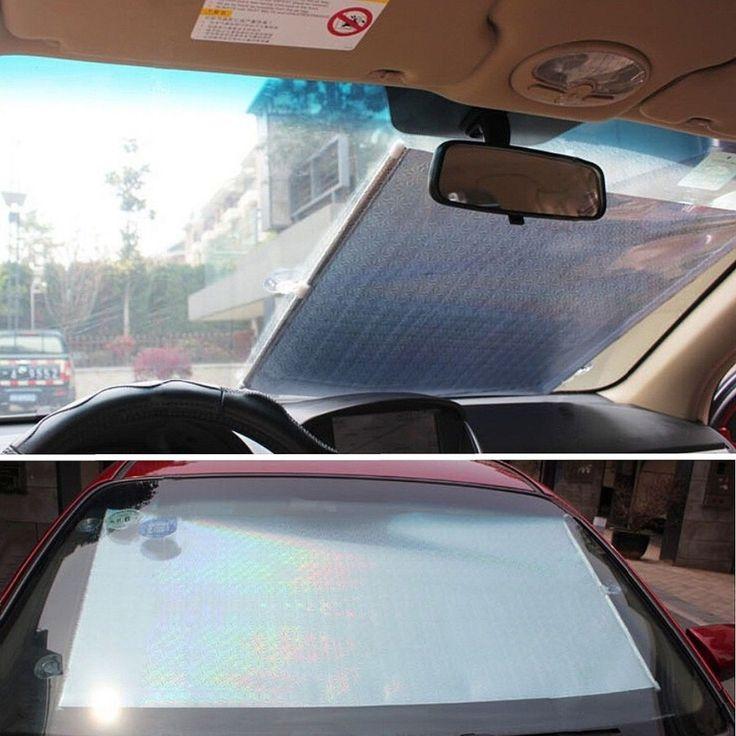 2016 Universal Hot Sale Car Window Blind Auto Car Roller Curtain Sun Shade UV Protection Silver 50x125 cm