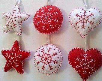 Vilt Kerst ornamenten Elf sieraad Santa helpers door DusiCrafts