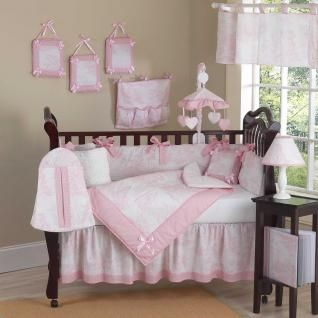 Pink Toile Bedding by JoJo Designs - Toile Baby Crib Bedding - pinktoile-9...Also very pretty!