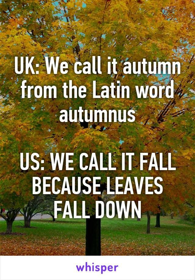 We just call it beautiful 😁🍁🍁🍁