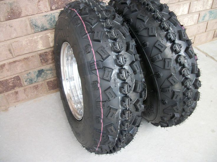 (2) Tire Wheel Rim Kit 6 Ply Front 21X7-10 Kawasaki Mojave 250