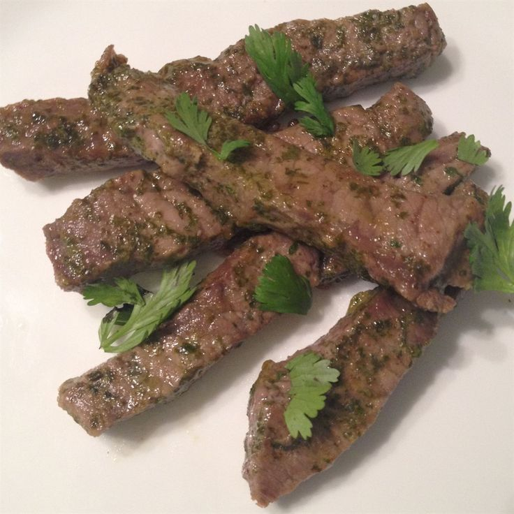 This cilantro lime marinade makes for seriously delicious steak strips!