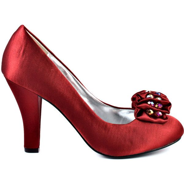Unlisted Women's Friendly Hug MT - Red - size 5.5 ($15) ❤ liked on Polyvore featuring shoes, red, sparkly high heel shoes, red high heel shoes, high heel shoes, red shoes and crystal high heel shoes