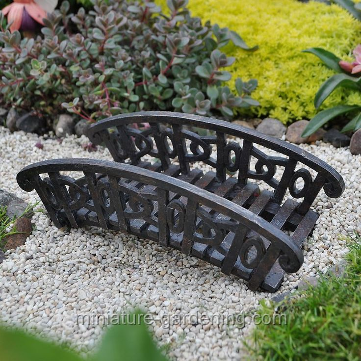 Exceptional Cast Iron Bridge For Fairy Gardens