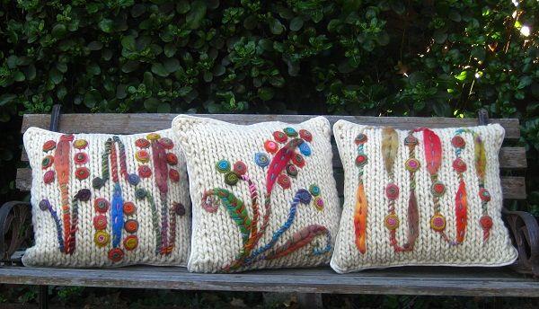 Rusticos !!..... tejidos en lana 100% fibra natural