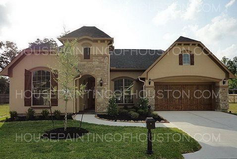 House color schemes exterior stucco best stucco color - Painting a stucco house exterior ...