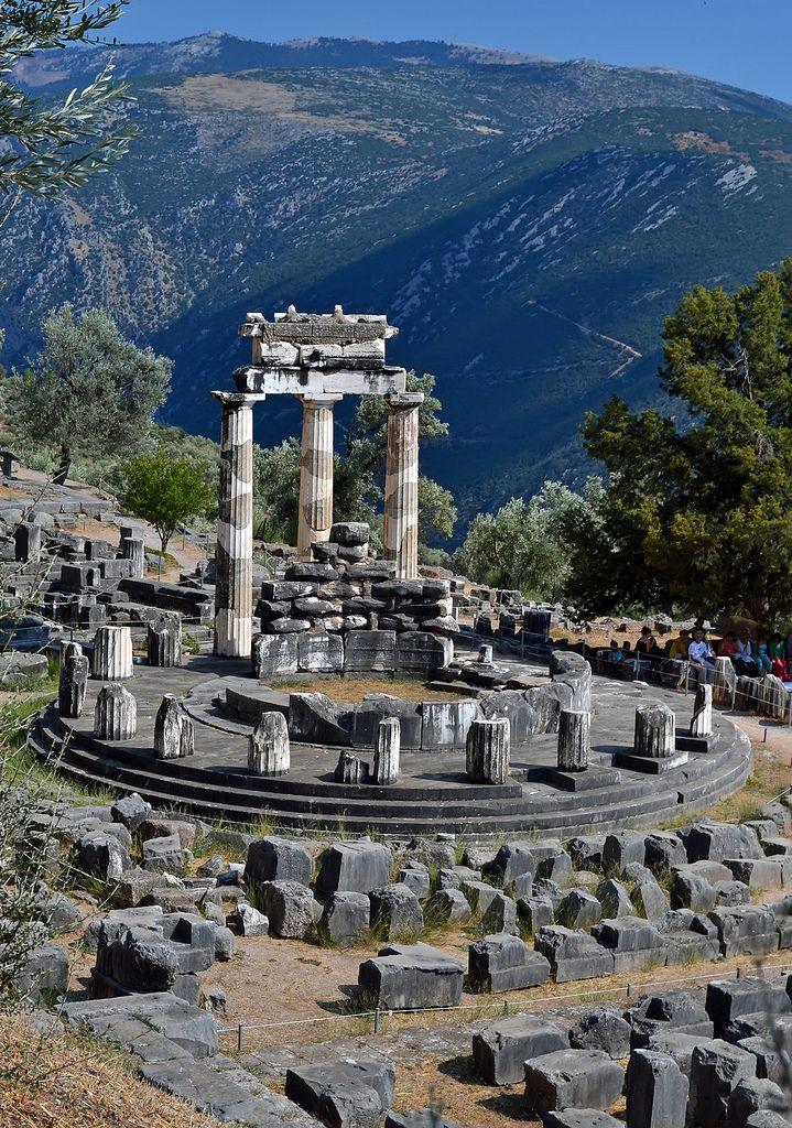 The Tholos temple, Delphi, Greece