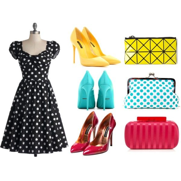 Dots by Czumaczech on Polyvore featuring polyvore fashion style Stop Staring! Dolce&Gabbana Principles by Ben de Lisi Bao Bao by Issey Miyake