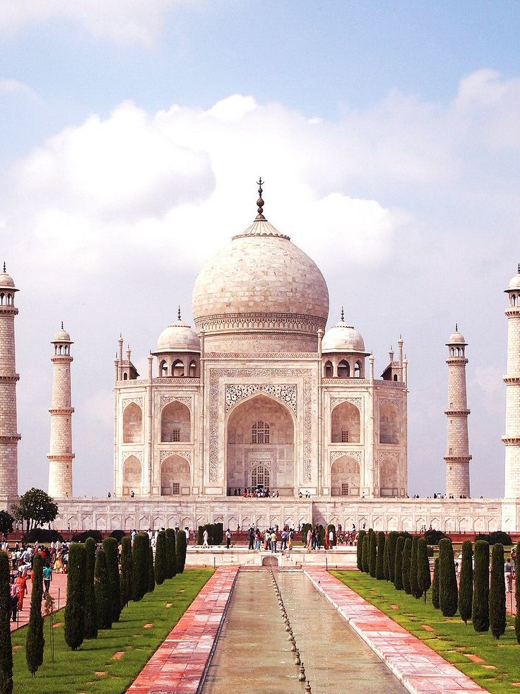 TAJ MAHAL – THE SYMBOL OF LOVE: The Taj Mahal, the symbol of love, is a marble mausoleum located in the city of Agra. It was built by the great Mughal Emperor Shah Jahan to host the tomb of his beloved wife Mumtaz Mahal