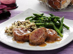 Honey Dijon Pork Tenderloin with Asparagus  Ready in 30 minutes