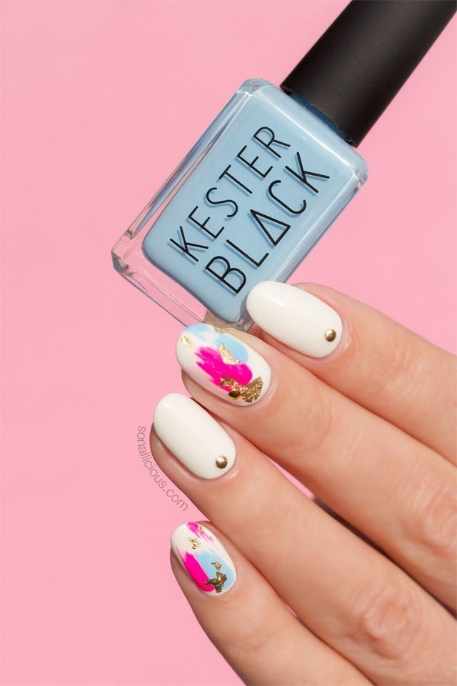Best Nail Art Salons Long Island ~ Shades of blue nail art tutorial