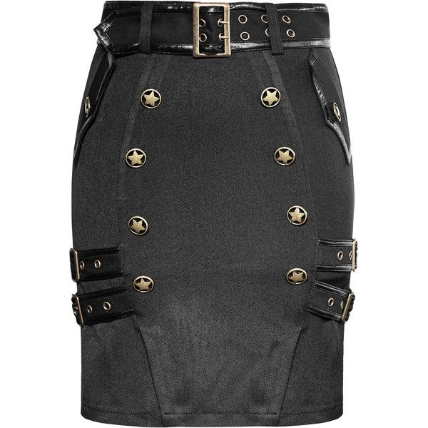 delicate uniform military warrior wrapped half punk skirt ($51) ❤ liked on Polyvore featuring skirts, military skirts, wrap skirts, punk rock skirts and punk skirt