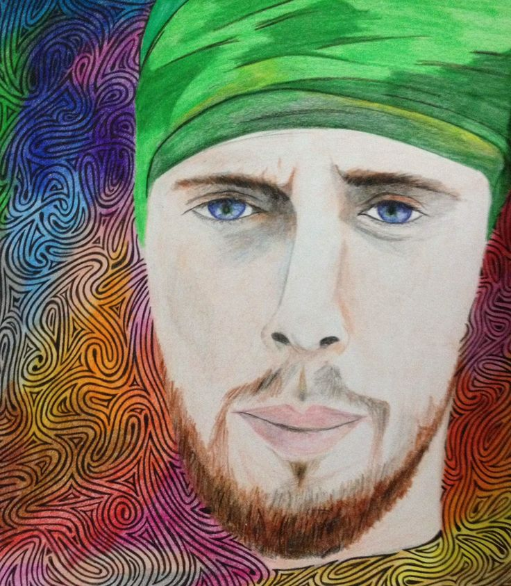 Color pencil drawing. It's never been easy to draw him. He is always in my heart.
