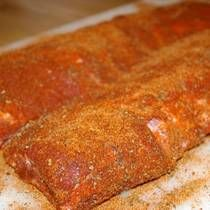 Memphis Rub... love this savory rub to put on St. Louis Style Spare-ribs.. bake at 350 F for 1.5 hrs until tender.. quick easy way to make a few days worth of meat for your meals.
