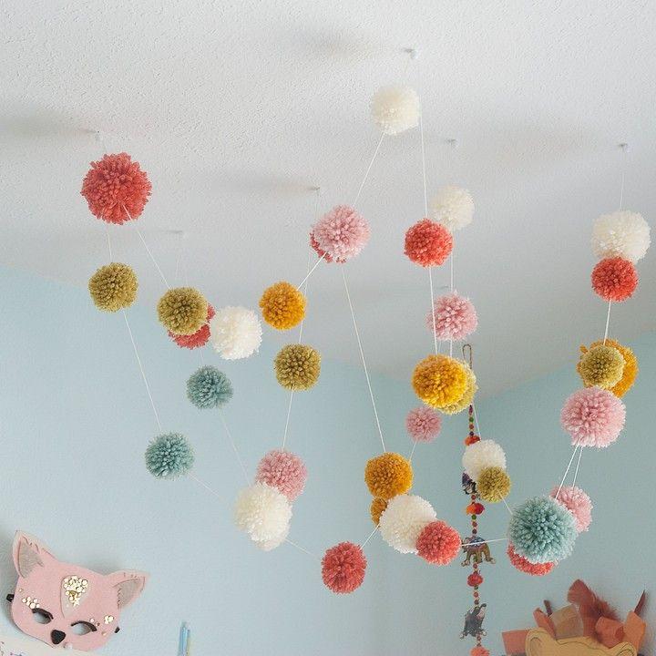 25 best ideas about pom pom garland on pinterest pom for Pom pom room decor