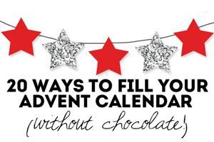 Home made advent calendars can be loads of fun for counting down to Christmas (check out our gallery of creative ideas if you're looking for… http://mumsgrapevine.com.au/2012/11/20-advent-calendar-fillers_no-sweets_no-chocolate/