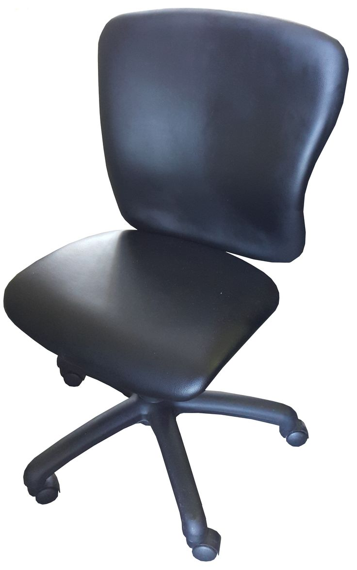 Black vynil midback typist chair with gas & tilt @ R850.00