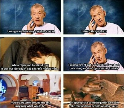 Ian McKellen and Elijah Wood...this is why i love the cast of the Lord of the Rings, and the Hobbit too, for that matter