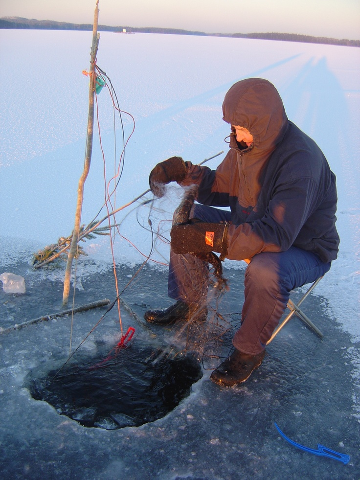 Try ice fishing in #Finland. #Travel #Winter
