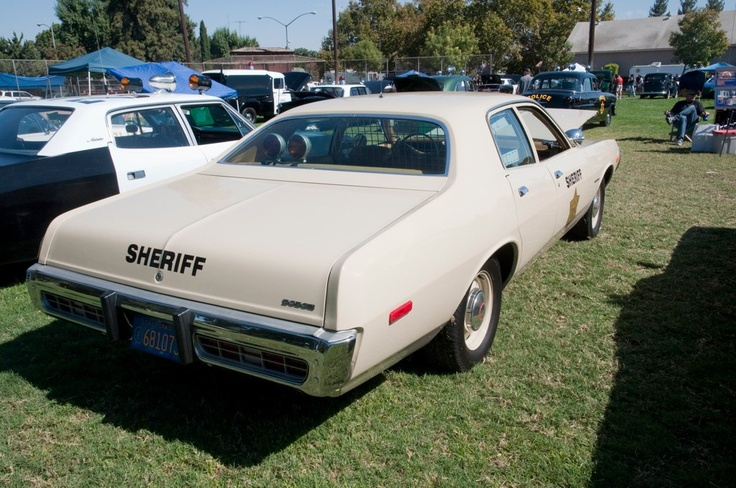 Monterey County, CA. Sheriff's car. 1973 Dodge Coronet.