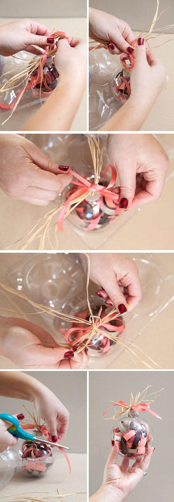 DIY | wedding invitation ornament- LOVE THIS!