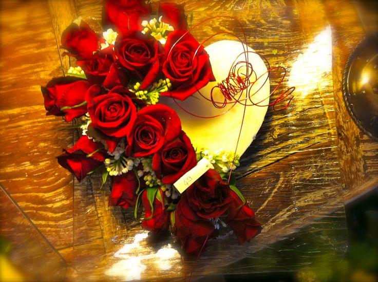Roses rouges, cœur